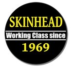 SKINHEAD WORKING CLASS (Button 2.5cm)