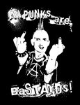 ALL PUNKS ARE BASTARDS (Patch Gedruckt)