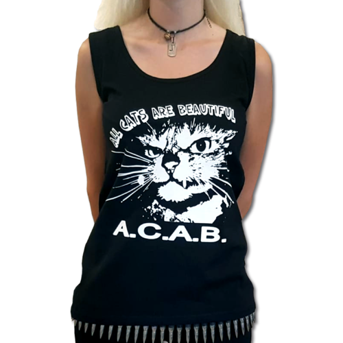 ALL CATS ARE BEAUTIFUL (Girly Vest) 12€ XS-XXL
