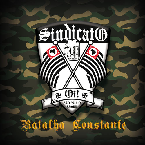 SINDICATO OI! - BATALHA CONSTANTE (LP) single sided oliv UV Print