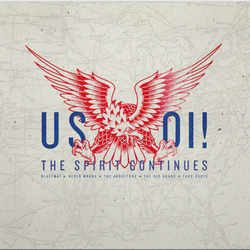 V.A. US OI! THE SPIRIT CONTINUES (LP+CD) ltd.250 black handn.