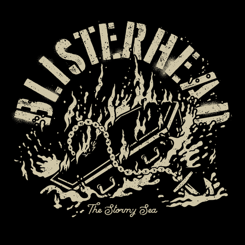 BLISTERHEAD - THE STORMY SEA (LP) Testpress 30 Stück handn. Siebdruckcover