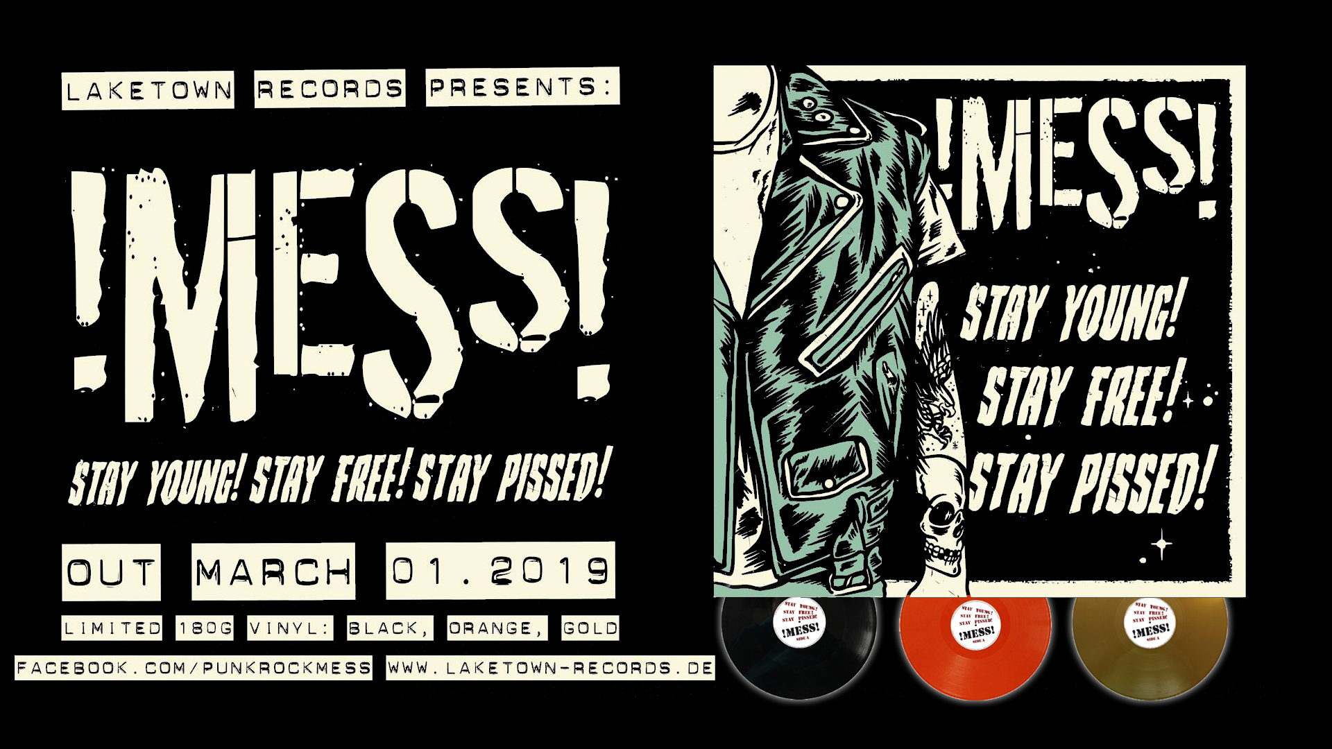 !MESS! - STAY YOUNG! STAY FREE! STAY PISSED!